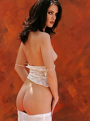 Amber - is a fair skinned brunette with a lovely thin body