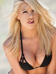 Shawna Lenee - spends a hot day outside getting wet